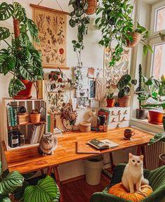 House Plants Decor, Plant Decor, Room Design Bedroom, Bedroom Decor, Aesthetic Room Decor, Home Office Design, Dream Rooms, Decoration, Room Inspiration