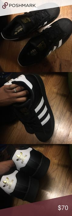 Adidas allstar Worn once. Dont like it cause make my feet look big. Good as new comes with box Adidas Shoes Sneakers