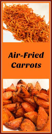 delicious air-fried carrots