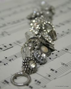 DIY:  Buttons & Vintage Jewelry Bracelet