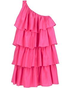 Paul & Joe Sister Athehes mini dress//black jeans, bag & jewelry  ///pink boots