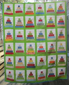 Cut the Cake Quilt. Pattern by Frecklemama, made by Hip to be a Square.