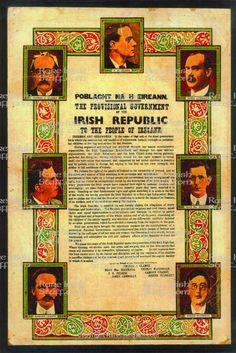 Proclamation of the Irish Republic Leaders & Celtic Surround Irish Independence, Easter Rising, Celtic Fc, Warrior Quotes, Belfast, Holiday Decor, Prints, British Isles, Dublin