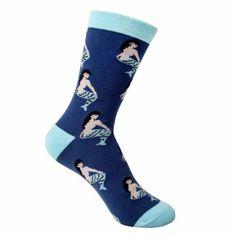 BLUE-MERMAID-SOCKS-100-Cotton-Unisex-Funny-Socks-Fashion-Apparel-Accessory-NEW