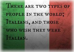 Love this....but then I would, I'm proud to be Italian.