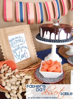FREE Father's Day Art Print & Dessert Table Idea @eyecandycreate #freefathersdayart #fathersday