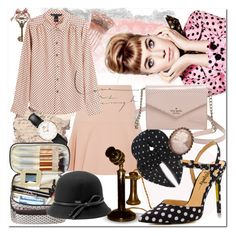 """""""Polka Dots and Pink"""" by beograd-love ❤ liked on Polyvore featuring Miu Miu, Yves Saint Laurent, Kate Spade, Daniel Wellington, Marc by Marc Jacobs, Betmar, TaylorSays and vintage"""