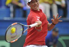 Kei Nishikori Photos - Colombia v Japan - Davis Cup World Group Play-Off - Day 1 - Zimbio