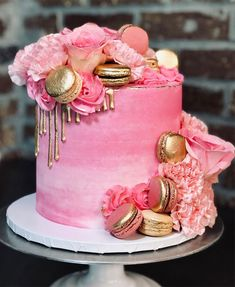 The 50 Most Beautiful Wedding Cakes, wedding cake ideas, amazing pink water color wedding cake Unique Birthday Cakes, Pink Birthday Cakes, Beautiful Birthday Cakes, Adult Birthday Cakes, Birthday Cakes For Women, Designer Birthday Cakes, Birthday Ideas For Women, Wife Birthday, Cool Wedding Cakes