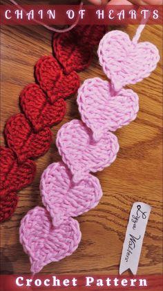 Crotchet Patterns, Knitting Patterns, Crochet Bookmark Patterns Free, Easy Crochet Bookmarks, Free Heart Crochet Pattern, Crochet Chain, Crochet Stitches, Beginner Crochet Projects, Crochet Flowers