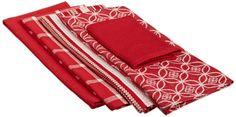 Amazon.com - DII 100% Cotton, Oversized Basic Dishtowel 5 Piece Set - Includes 4 Dishtowel and 1 Dishcloth, Wine - Dish Towels #AmazonCart #DII #DesignImports