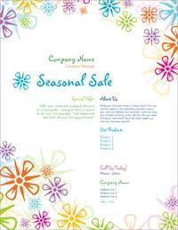 bright floral pattern Flyers