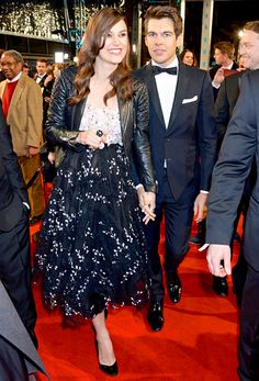 Pregnant Keira Knightley and husband James Righton made a gorgeous dash down the red carpet during the BAFTAs at Royal Opera House in London Feb. 8.