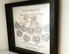 Personalised wooden family tree frame box by PoppetsandPrincesses