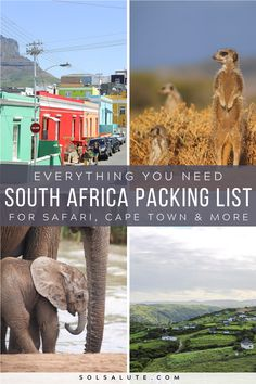 The ultimate South Africa Packing List | What to pack for South Africa | What to bring to South Africa | What to wear in South Africa | Safari Camera equipment for safari | What to pack for a Safari in South Africa | South Africa visa and documents to pack | Packing List South Africa | Southern Africa packing list | South Africa road trip | Travel South Africa | What to do in South Africa | Cape Town travel | Safari packing list #SouthAfrica #Safari #Africa