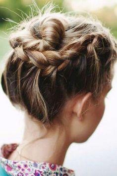 Gorgeous bun and braid.