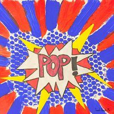 Lichtenstein pop art with bubble wrap