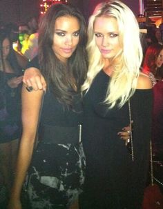 ef98071eb5a7 Vanessa Curry and Lauren Bennett (G.R.L.) in Las Vegas wearing FROCK.