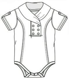 technical flats / kids clothes / girls / boys / baby / babies / blouse / shirt / t-shirt / jacket / cardigan / dress / skirt / playsu. Baby Boy Dress, Baby Girl Skirts, Little Girl Dresses, Kids Outfits Girls, Girl Outfits, T Shirt Sketch, Body, Girls Playsuit, Romper