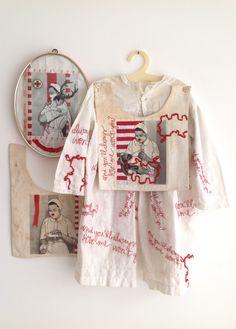 Embroidery by Karin van der Linden. Sculpture Textile, Textile Fiber Art, Textile Artists, Soft Sculpture, A Level Textiles, Exposition Photo, Textiles Techniques, Contemporary Embroidery, Fabric Manipulation
