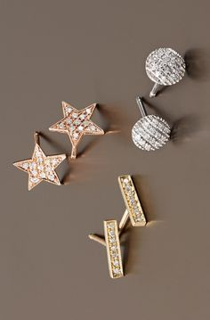 Add a touch of sparkle to any outfit with these adorable stud earrings.