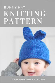 FREE Knitting Pattern for this baby Bunny Hat