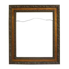 Two Tone Carved Wood Frame For Sale
