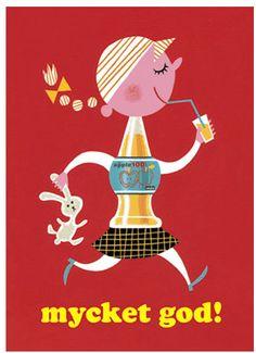 vintage ad advert for Mycket Apple Juice
