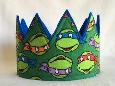 Hey, I found this really awesome Etsy listing at https://www.etsy.com/listing/260239640/blue-ninja-turtle-crown-boys-crown