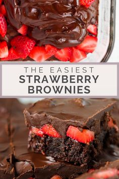 Chocolate Covered Strawberry Brownies are a delicious, chocolatey dessert recipe. If you like rich, Brownie Recipes, Brownie Toppings, Cake Recipes, Strawberry Brownies, Chocolate Covered Strawberries, Strawberry Chocolate Cakes, Brownies With Strawberries, Easy Desserts, Delicious Desserts