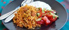 Lobia Polo- Persiskt ris med gröna bönor och kött