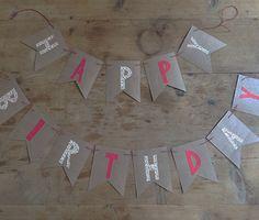 Guirnalda de cumpleaños artesanal