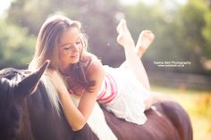 Summer Siesta by Sasha L'Estrange-Bell on 500px a girl and a horse