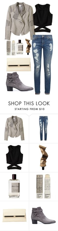 """Putting on fierce boots is an instant pick-me-up"" by chase-stars ❤ liked on Polyvore featuring Helmut Lang, Tommy Hilfiger, Atelier Cologne, Korres, Diane Von Furstenberg and Yves Saint Laurent"