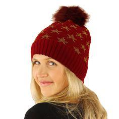 87c3e0ec483 Faux fur pom pom x Winter Stretchy heavy bulky knit beanie skull hat winter  warm chunky ribbed knitted ski hat cap with interior lining