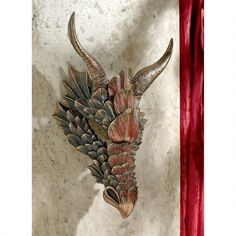 Dragon Feathers Sculptural Wall Mask