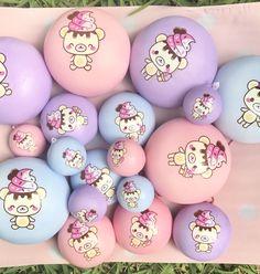 Jumbo Yummiibear hiding in icecream cone squishy *creamiicandy x Puni Maru* Jumbo Squishies, Cute Squishies, Icecream, Slime, Minis, Easter Eggs, Diana, Balls, Stress