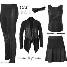 @CAbi Clothing Fall-13 Trend :: Leather//Fleather. Affordable luxury.