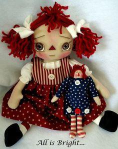 Primitive Raggedy Doll - Marlee via Etsy