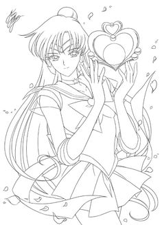 Pluto coloring page Sailor Pluto, Arte Sailor Moon, Sailor Moon Stars, Sailor Moon Manga, Sailor Moon Crystal, Sailor Moon Coloring Pages, Cute Coloring Pages, Adult Coloring Pages, Coloring Books