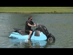 Gibbs Amphibious Motorcycle Switches to JET-SKI Mode in Less Than 5 Seconds! - The Biski is truly unique; as a single seat (or single plus pillion), twin jet, HSA Mo Jet Ski, Camping Water, Camping Gear, Camping Style, Amphibious Vehicle, Rv Truck, Boat Seats, Motorcycle Camping, Special Ops