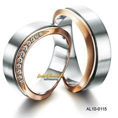 Alianças de casamento modelo exótico - arrojado AL10-0115