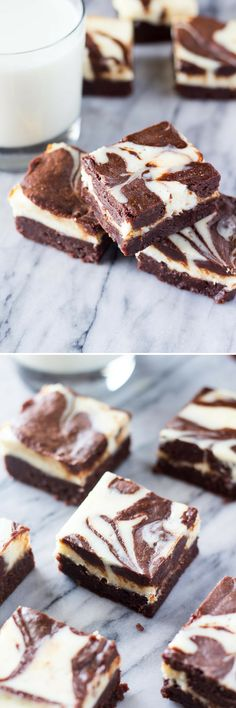Cream Cheese Brownies - Super fudgy, chocolatey brownies swirled with a layer of classic cheesecake. These are the ULTIMATE dessert!