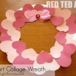 Heart collage wreath