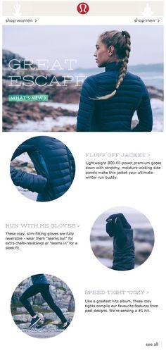 lululemon winter | email marketing