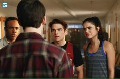 Dylan Sprayberry, Victoria Moroles, Dylan O'Brien, and Khylin Rhambo in Teen Wolf Melissa Mccall, Scott Mccall, Teen Wolf Dylan, Dylan O'brien, Teen Wolf Season 6, Victoria Moroles, Only Teen, Malia Tate, Dylan Sprayberry