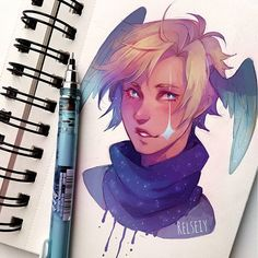 Coloured a sketch of an oc i havent drawn in ages, his name is Vinci. Kinda experimented with the colours too so these are not his actual colours...i guess its fiine? I wanted it to turn out differently but thats what experimenting is about  #pandastrophic_oc #relseiy_ocs
