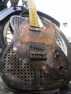 This custom Tele styled guitar reminds me of Russ Ballards iconic custom Strat.