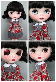 Ooak custom Blythe doll 'Ruby' by Mapuca on Etsy