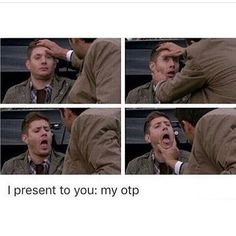 I don't ship Destiel but this is too funny Supernatural Tumblr, Supernatural Destiel, Dean And Castiel, Supernatural Imagines, Supernatural Wallpaper, Misha Collins, Jensen Ackles, Decimo Doctor, Movies
